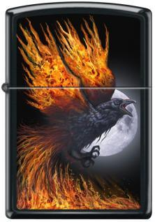 Zippo Flaming Raven 4835 lighter