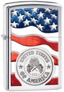 Zippo America Stamp on Flag 29395 lighter