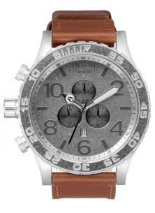 Nixon 51-30 Chrono Leather Saddle A124 747 watch