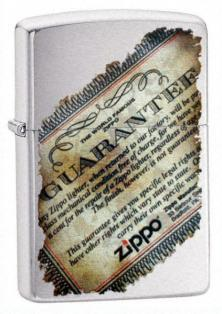 Zippo Lifetime Guarantee 21473 lighter