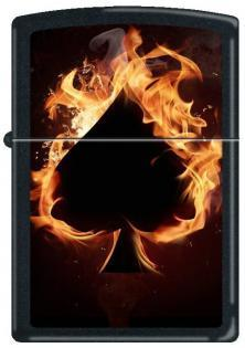 Zippo Ace of Spades - Flaming 0242 lighter