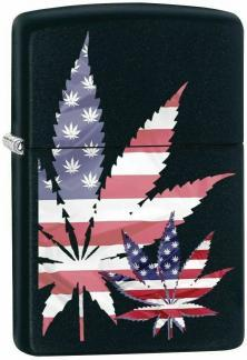 Zippo Cannabis Leaf USA Flag 8979 lighter