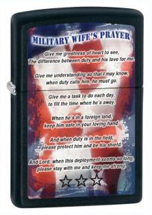 Zippo Military Wife Prayer 26418 lighter