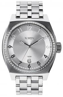 Nixon Monopoly All Silver Crystal A325 1874 watch