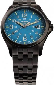 Traser P67 Officer Pro GunMetal SkyBlue 108740 watch