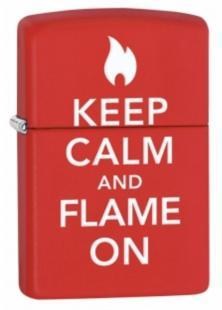 Zippo Keep Calm And Flame On 28671 lighter