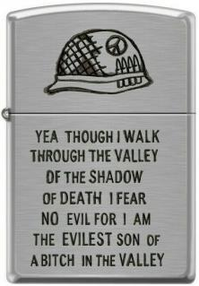 Zippo Walk Through Valley of Shadow of Death 0684 lighter
