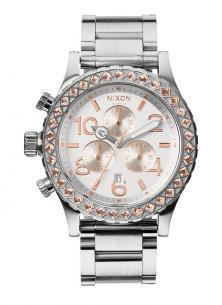 Nixon 42-20 Chrono Silver/Champagne/Crystal A037 1519 watch