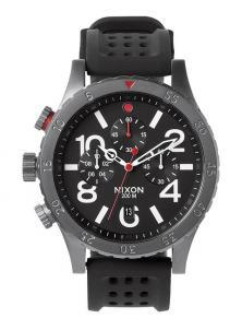Nixon 48-20 Chrono P Gunmetal/Black/Red A278 1426 watch