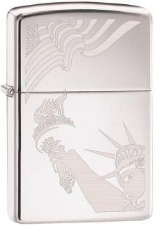 Zippo Flag and Lady Liberty 2265 lighter