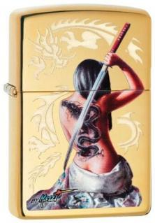 Zippo Mazzi Dragon Girl Sword 29668 lighter