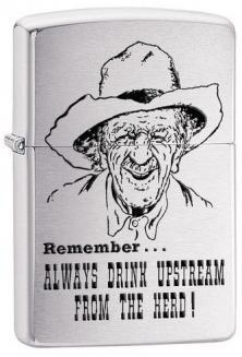 Zippo Always Drink Upstream 28443 lighter
