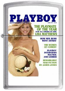 Zippo Playboy Cover 1991 June 0715 lighter