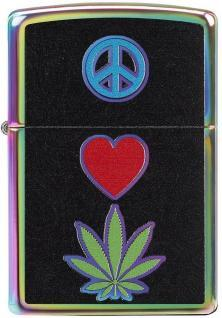 Zippo 6345 Peace Love Leaf Cannabis lighter