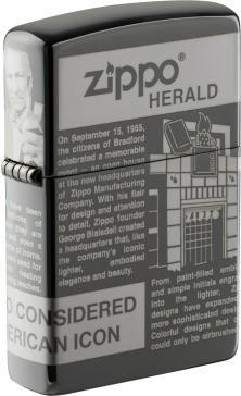 Zippo Newsprint Design 49049 lighter
