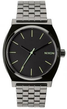 Nixon Time Teller Polished Gunmetal Lum A045 1885 watch