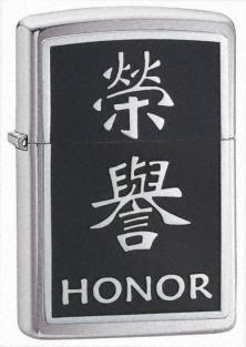 Zippo Chinese Symbol Honor Emblem 21403 lighter