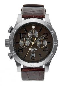 Nixon 48-20 Chrono Leather Brown Gator A363 1887 watch