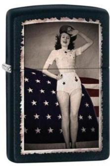Zippo 28533 Flag Woman Saluting lighter