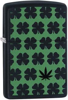 Zippo Clover and Cannabis Leaf 29729 lighter