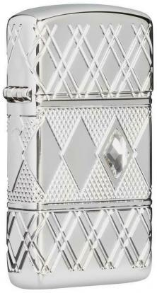 Zippo Diamond Pattern Design 49052 lighter