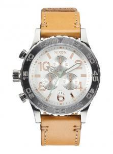 Nixon 42-20 Chrono Leather Natural/Silver A424 1603 watch