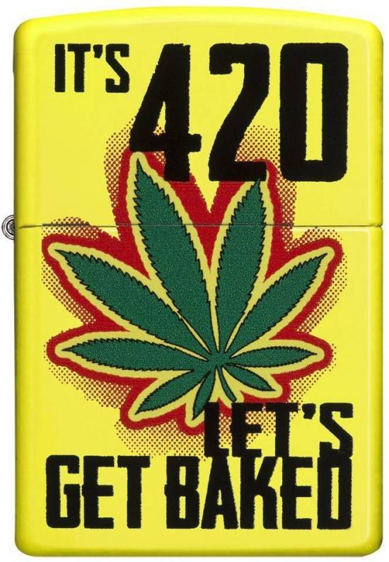 Zippo 6344 Lets Get Baked Cannabis lighter